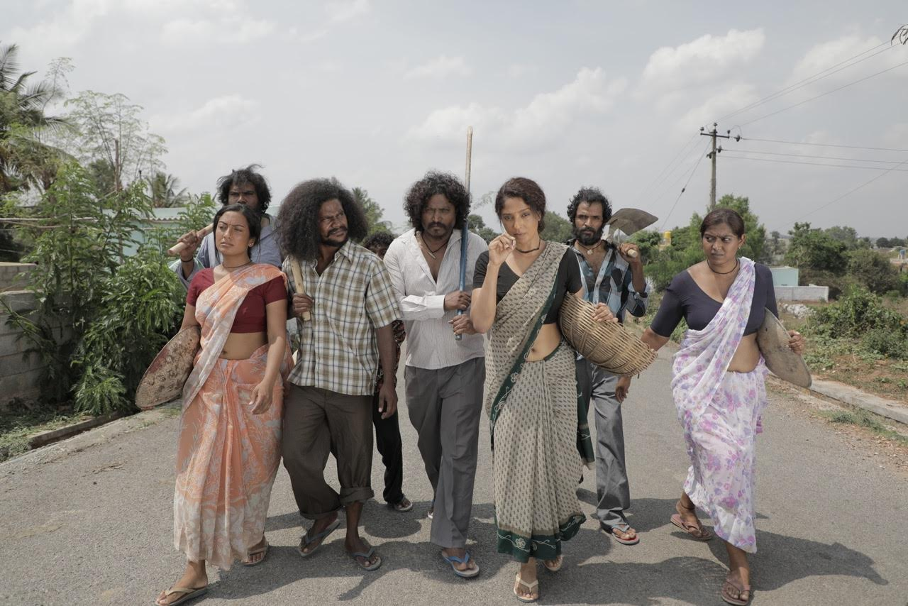 Actress Suman Ranganathan as Sundri, new gangsta leader in Dandupalayam 4 Movie