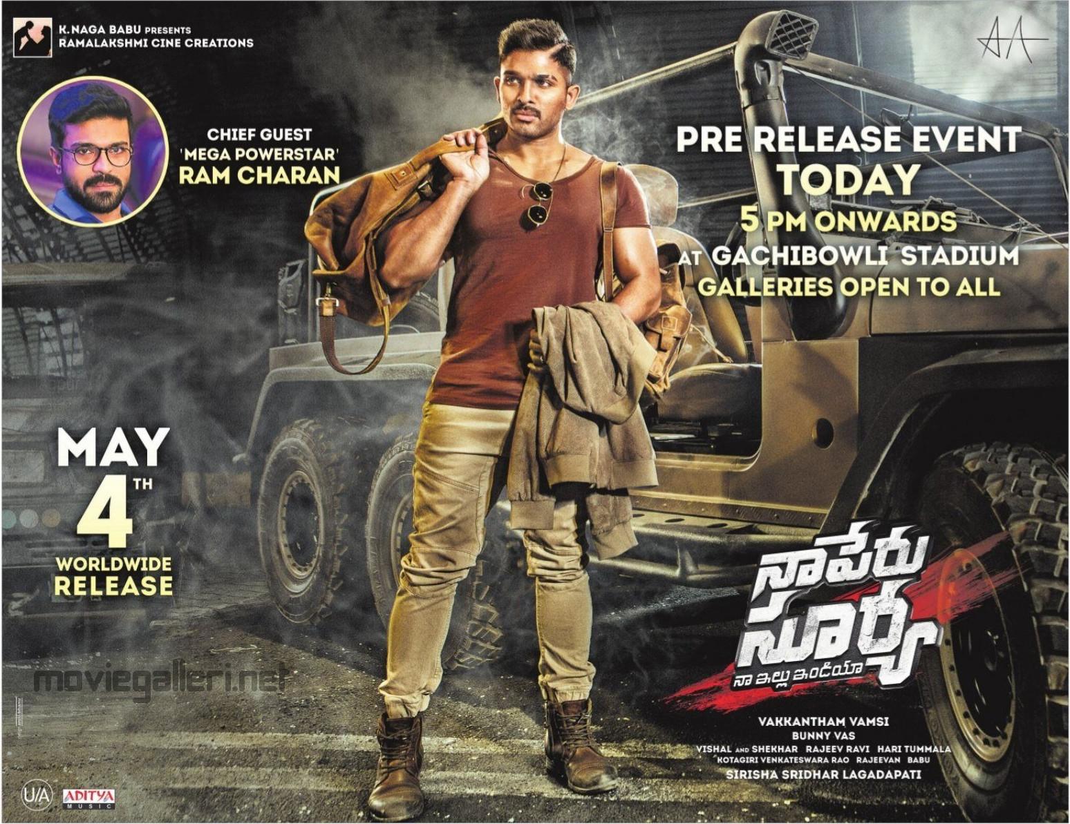 Allu Arjun Naa Peru Surya Naa Illu India Pre Release Event Today Wallpapers HD