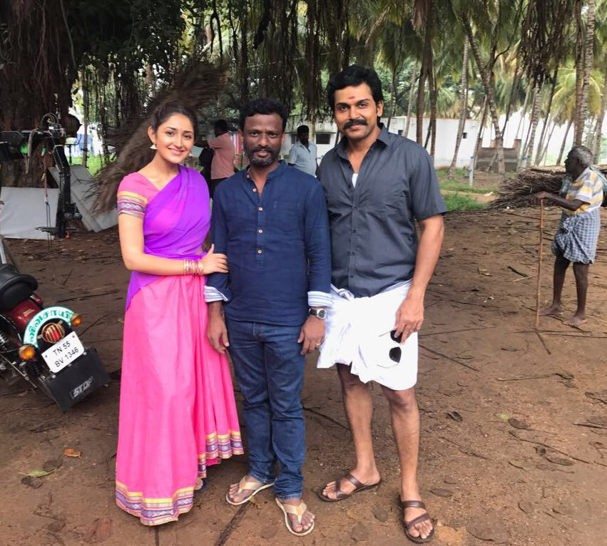Farmer Karthi Kadai Kutty Singam shooting in Tenkasi