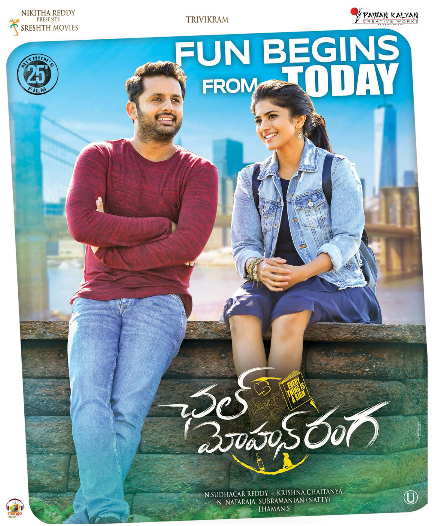 Nithin Megha Akash Chal Mohan Ranga Movie Release Today Posters