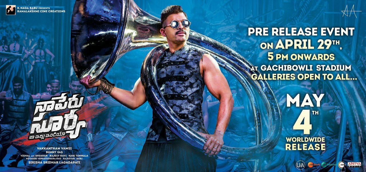Ram Charan is Guest of Naa Peru Surya Pre-Release Event