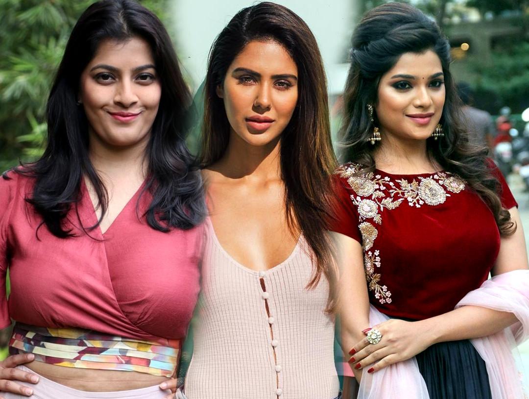 Varalakshmi, Sonam Bajwa & Aathmika in Katteri movie