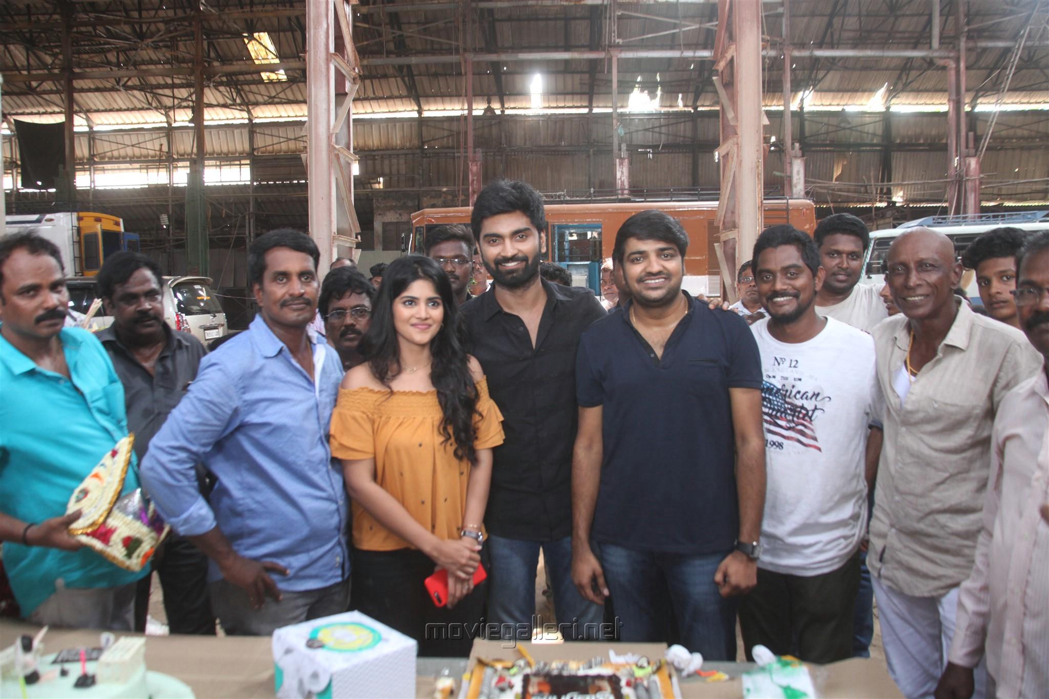 Actor Atharva birthday celebrations @ Boomerang Movie Sets