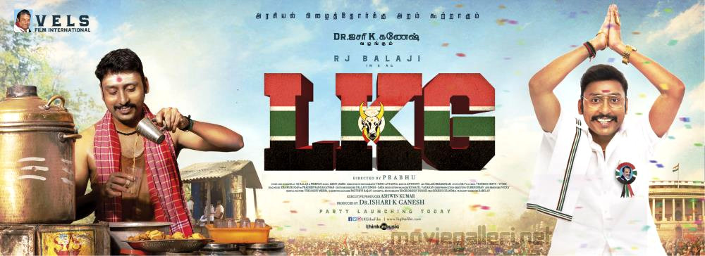 Actor RJ Balaji LKG Movie First Look Poster