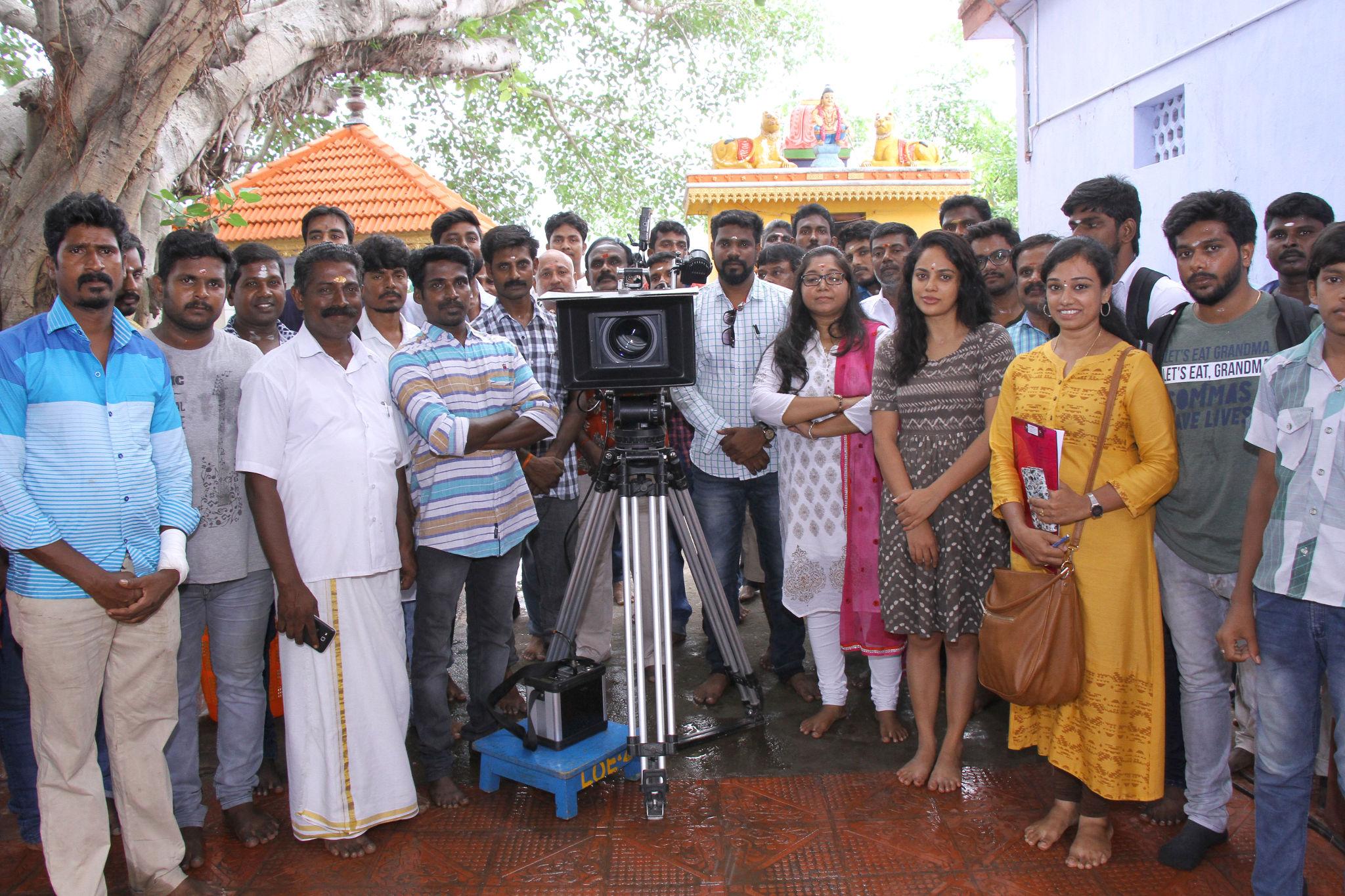 Actress Nandita Swetha as Narmadha movie Pooja Stills HD