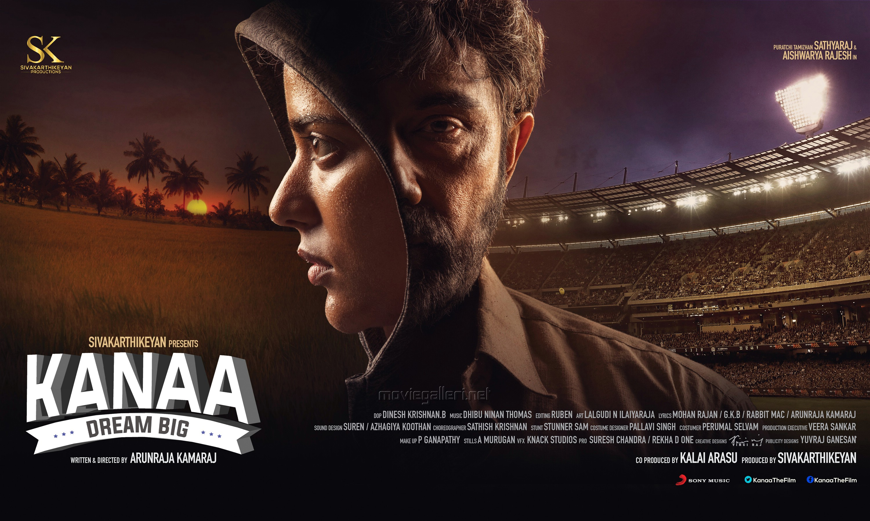 Aishwarya Rajesh Sathyaraj Kanaa Movie First Look Wallpapers HD