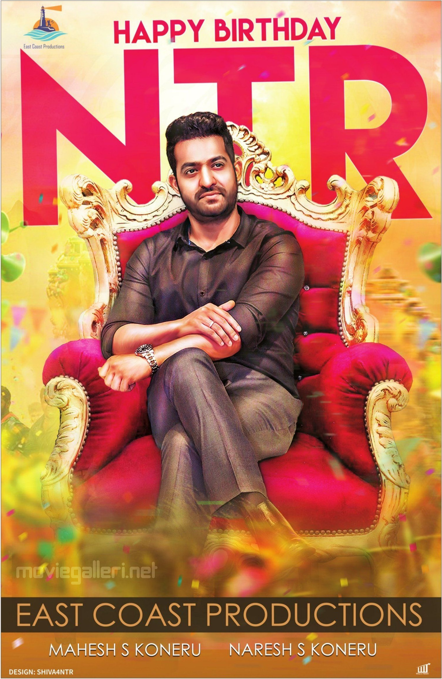 East Coast Productions Wishes NTR Birthday Poster HD