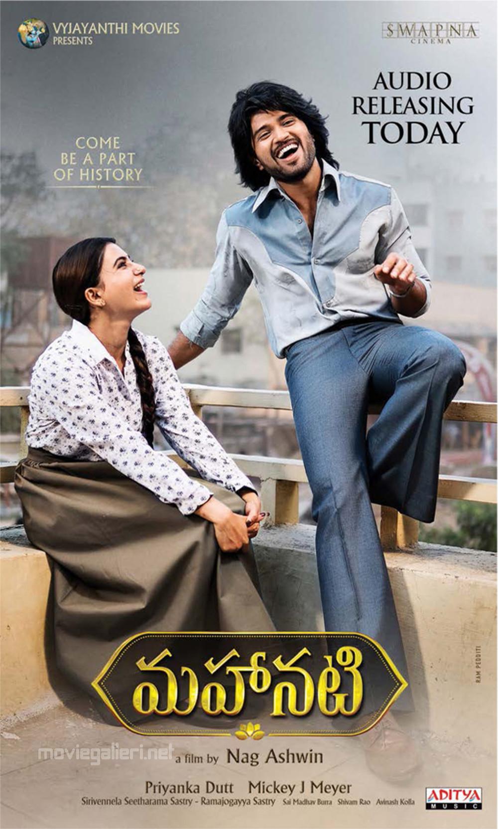 Samantha Akkineni Vijay Devarakonda Mahanati Movie Audio Releasing Today Posters