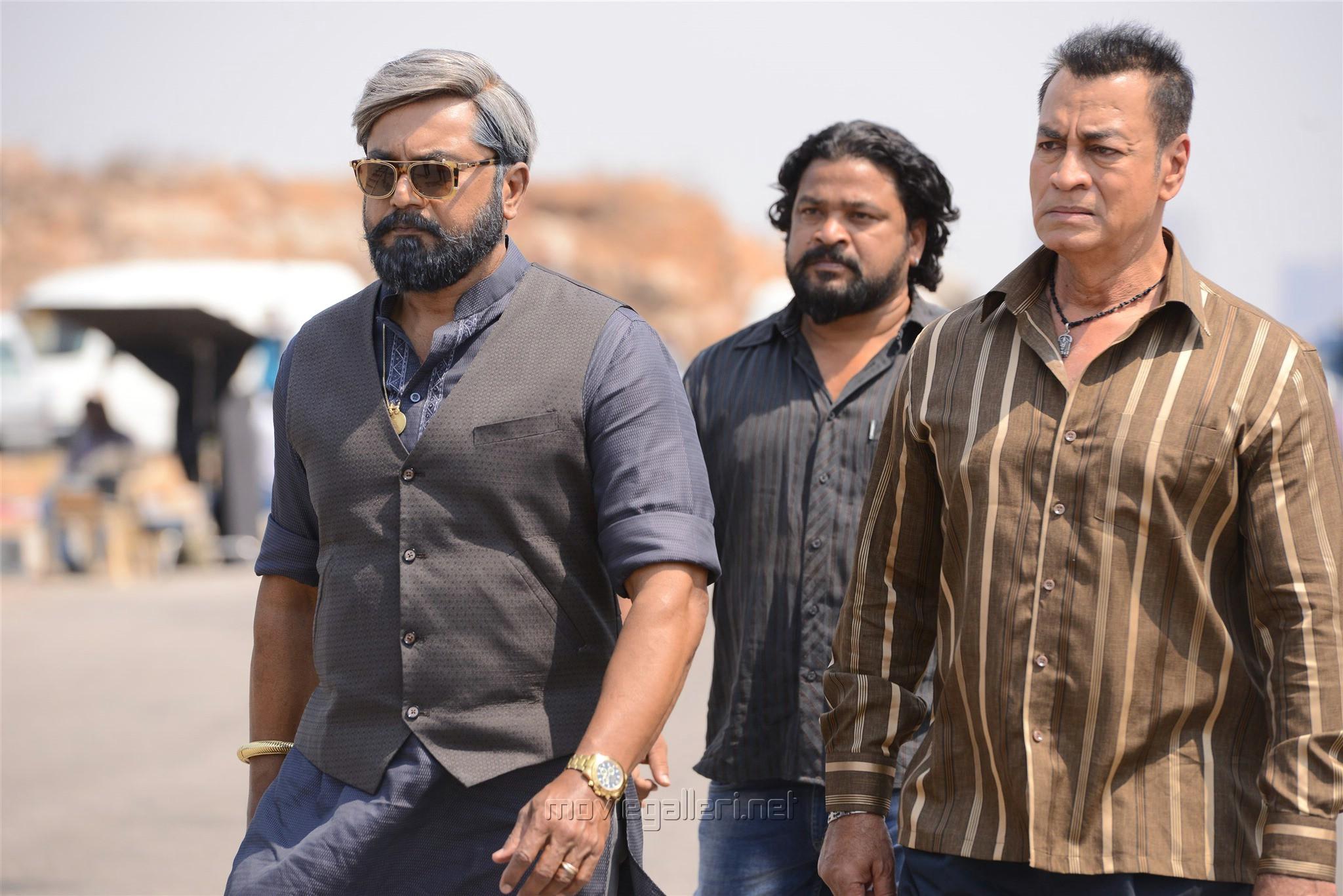 Sarathkumar, Pradeep Rawat in En Peyar Surya Movie Review