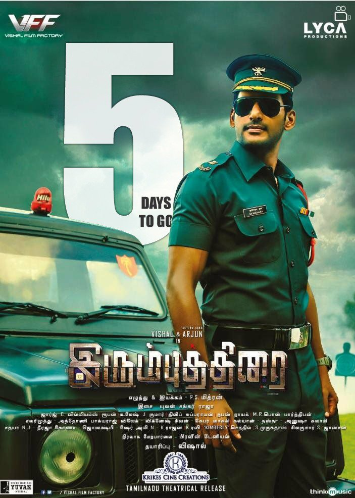 Vishal Irumbuthirai Movie 5 Days To Go Posters