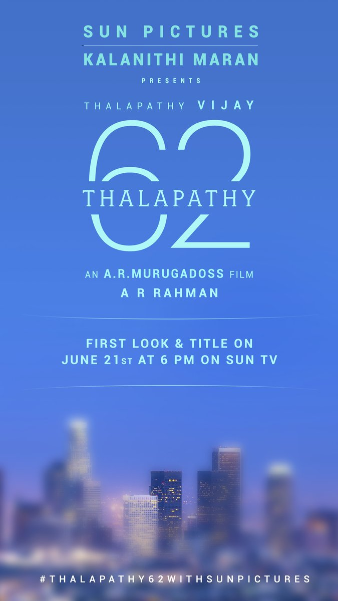 'Thalapathy 62' first look from 21 June