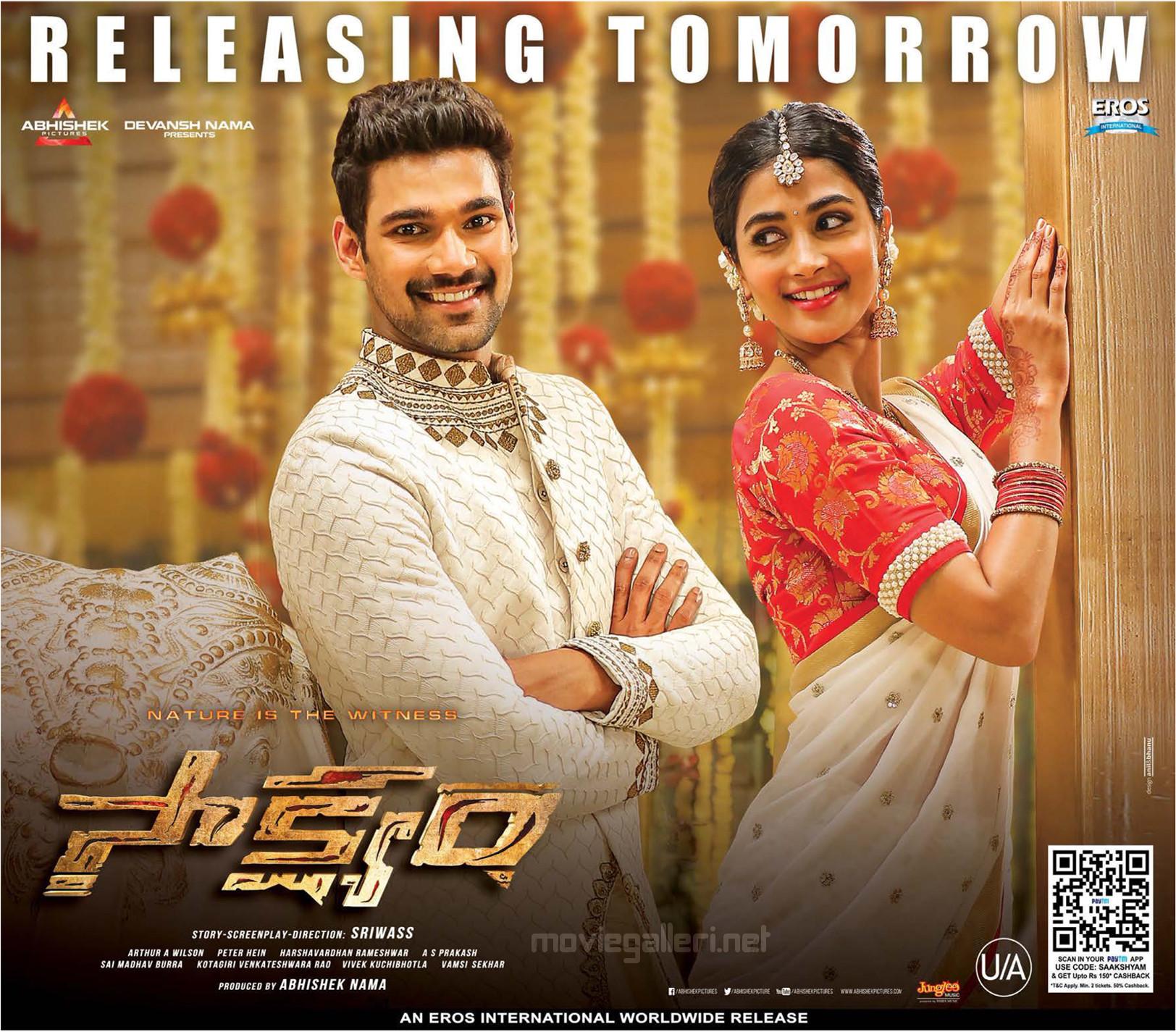 Bellamkonda Sreenivas Pooja Hegde Saakshyam Movie Release Tomorrow Posters HD