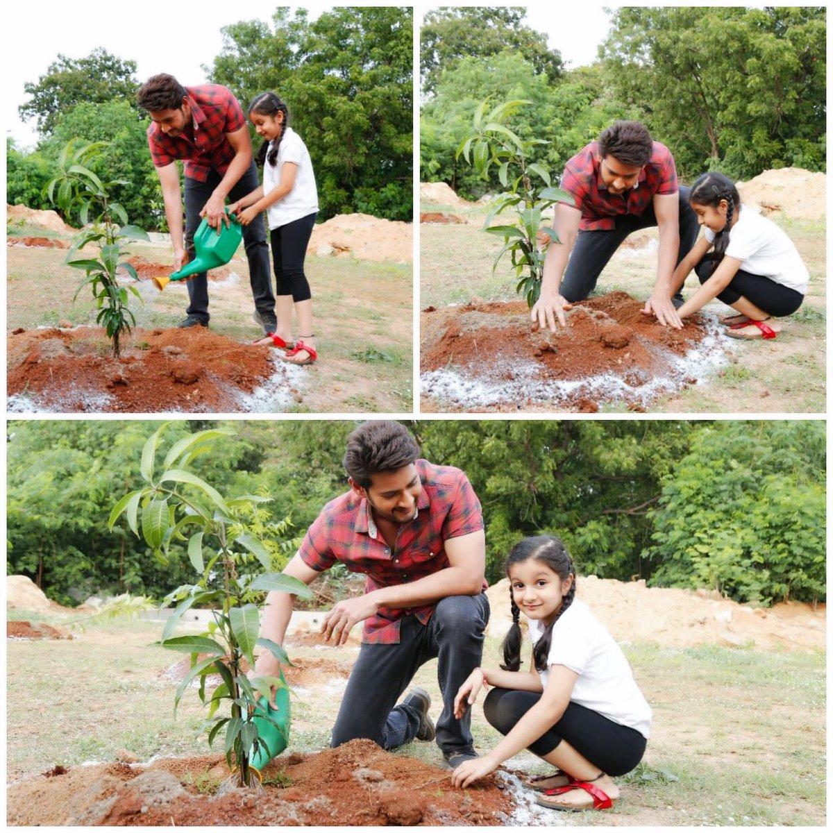 Mahesh Babu Haritha Haram with daughter Sitara