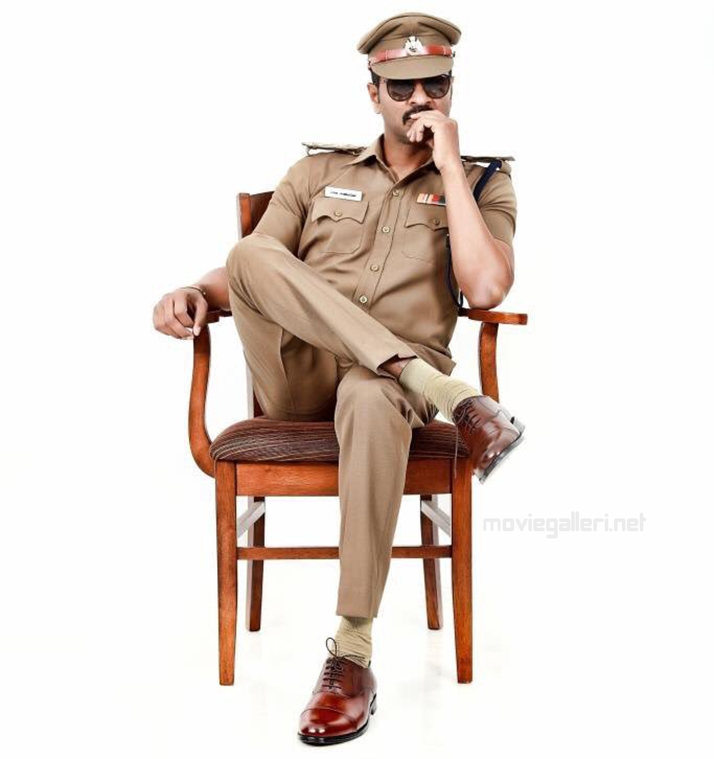 Prabhu Deva Police Officer Pon Manickavel Movie First Look Pics