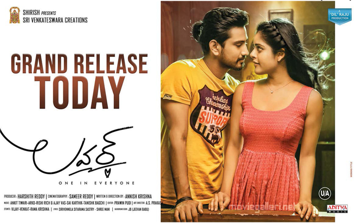 Raj Tarun Riddhi Kumar Lover Movie Release Today Poster