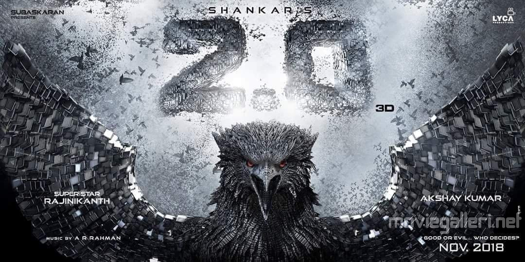 Rajinikanth 2.0 Movie Release Date 29 November 2018 Poster
