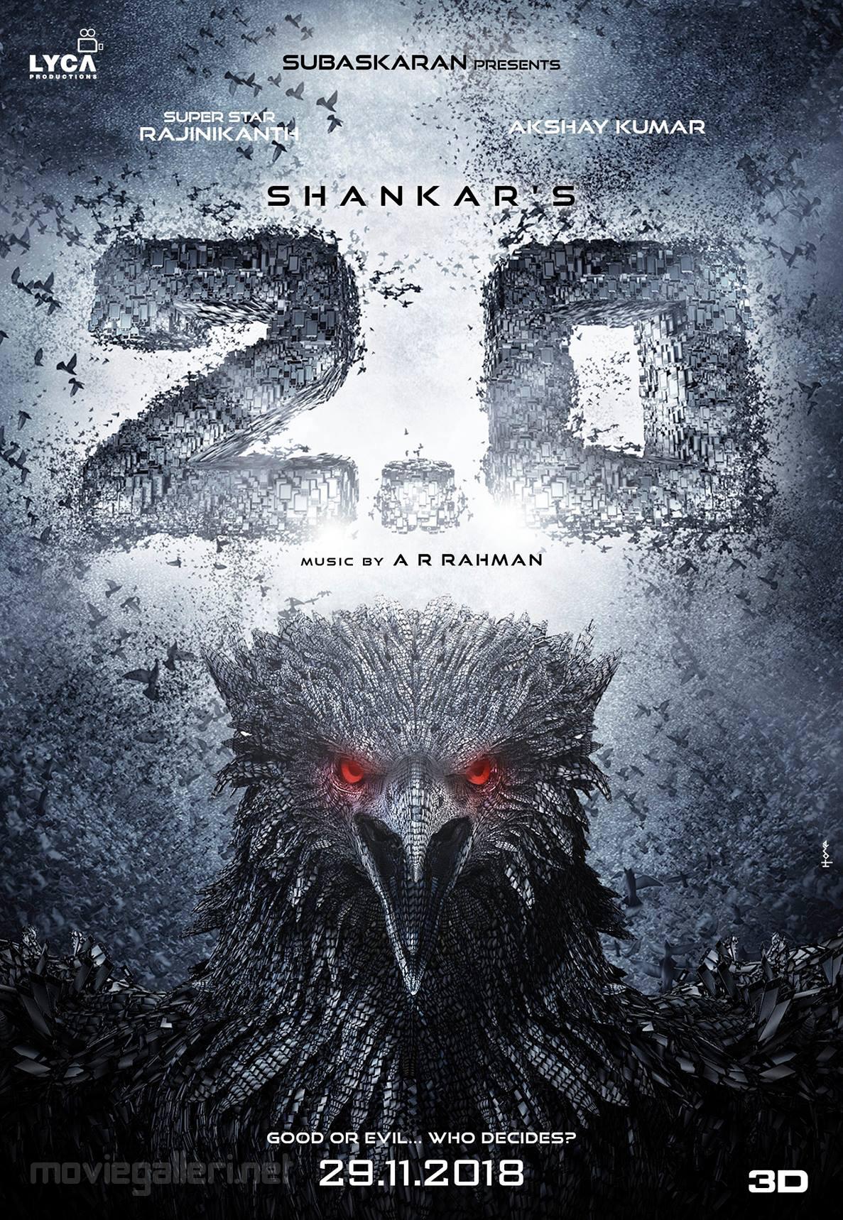 Rajinikanth's 2.0 Movie Release Date 29 November 2018 Poster HD