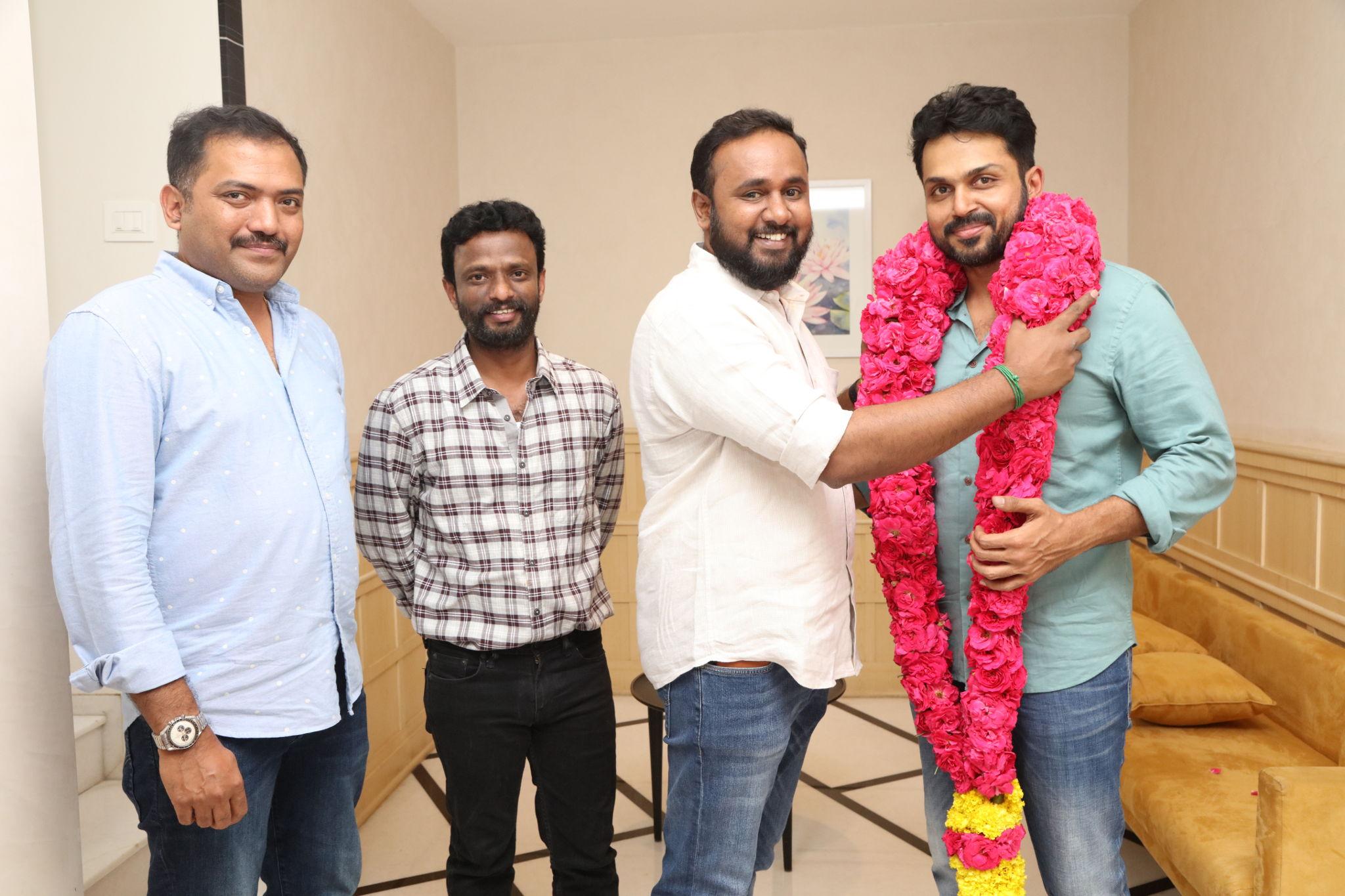 Sakthi Film Factory expresses overjoyed gesture Karthi for Kadaikutty Singam Success