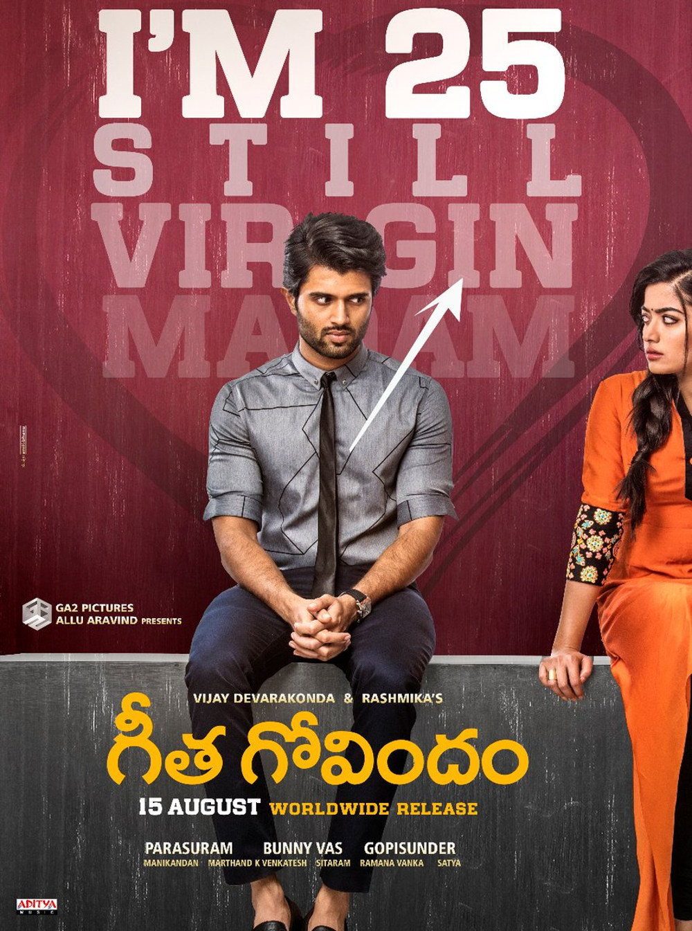 Vijay Devarakonda Rashmika Mandanna Geetha Govindam Movie Release on 15 August