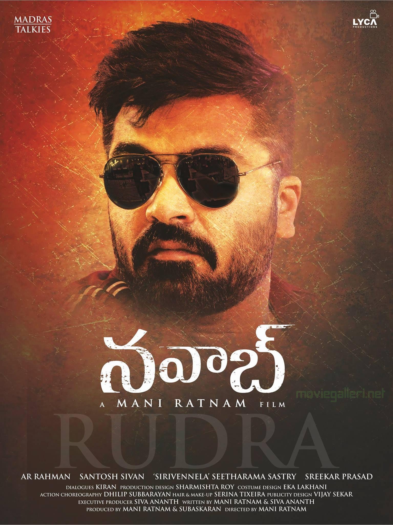 Actor STR Simbu as Rudra in Nawab Movie Poster HD