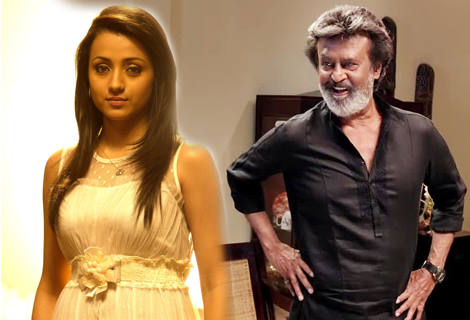 Actress Trisha as Rajini Ex Lover