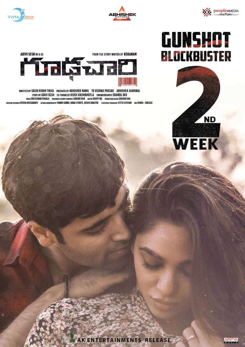 Adivi Sesh, Sobhita Dhulipala Goodachari Movie 2nd Week Posters