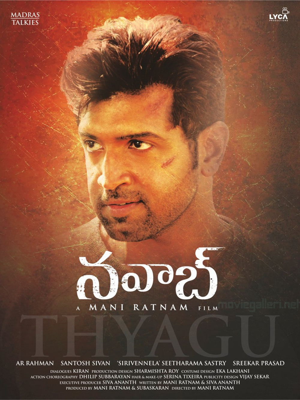 Arun Vijay as Thyagu in Nawab Movie First Look Poster