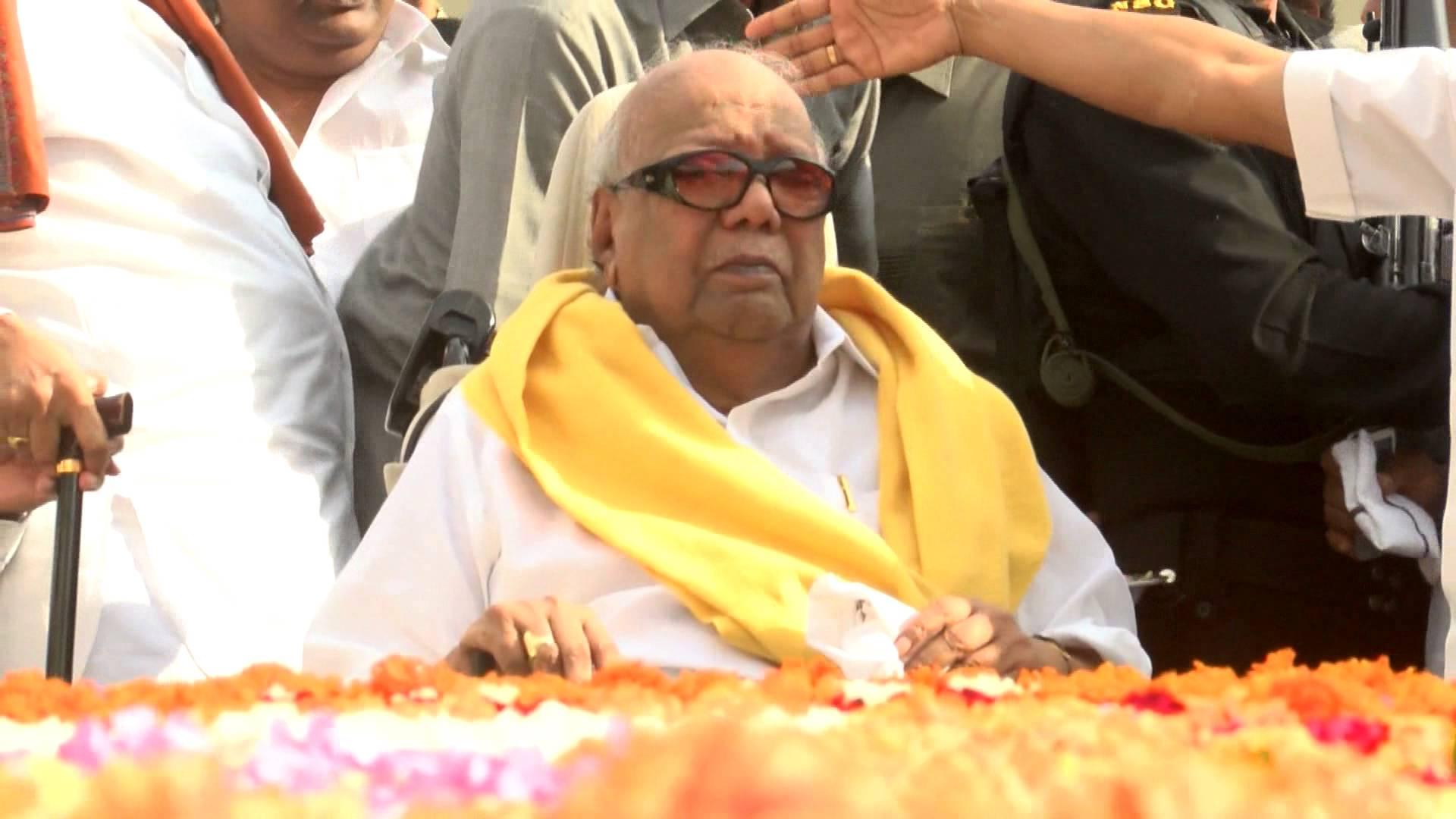 DMK Leader Kalaignar M Karunanidhi passes away