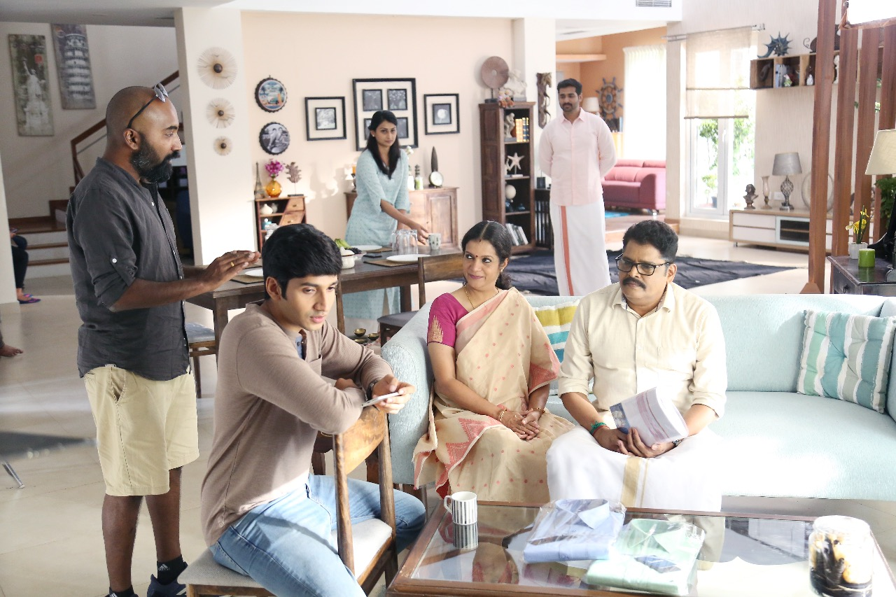 Director KS Ravikumar in MS Jansons Reversible Dhoti Ad