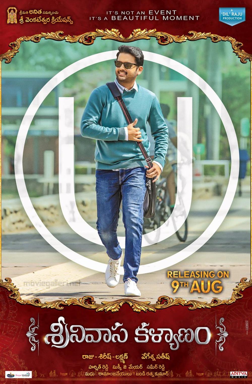 Nithin Srinivasa Kalyanam Movie Release Date August 9th Posters
