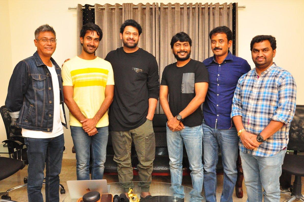 Prabhas appreciated PaperBoy Movie Team Photos