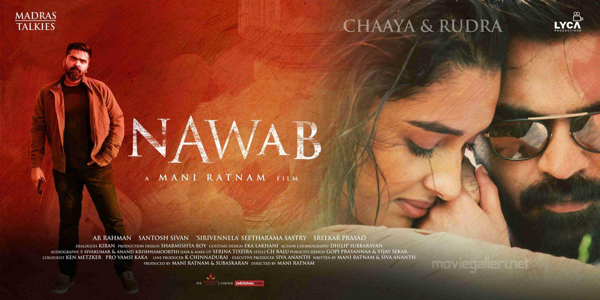 Simbu Rudra, Dayana Erappa as Chaaya in Nawab Movie Poster HD