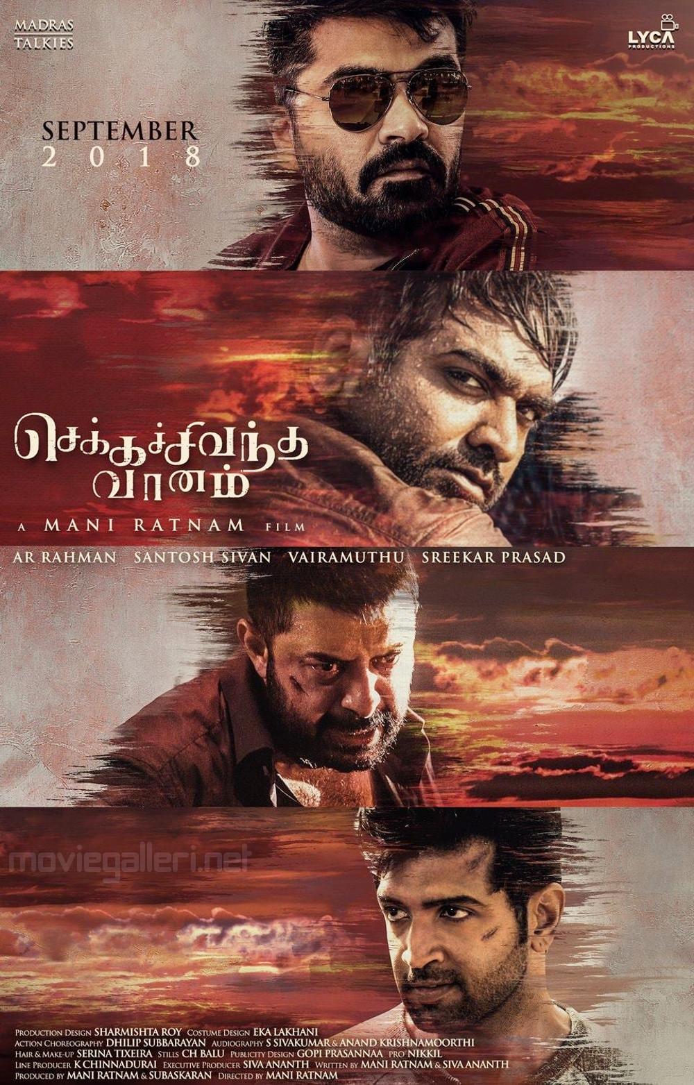 Simbu Vijay Sethupathi Arvind Swami Arun Vijay Chekka Chivantha Vaanam Movie Poster HD