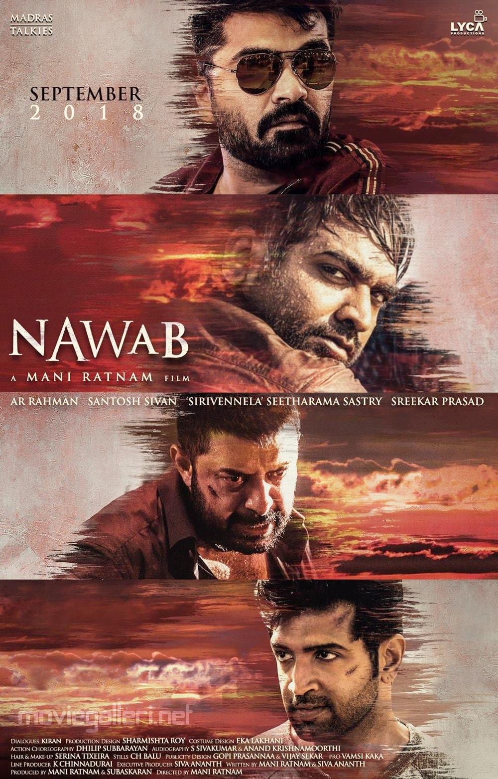 Simbu Vijay Sethupathi Arvind Swami Arun Vijay Nawab Movie Poster HD