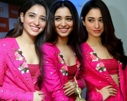 Tamanna launches Happi Mobiles at Bhimavaram