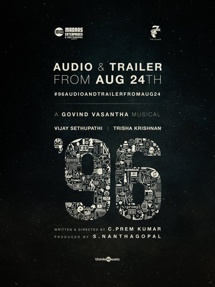 Vijay Sethupathi-Trisha's 96 audio from 24 August