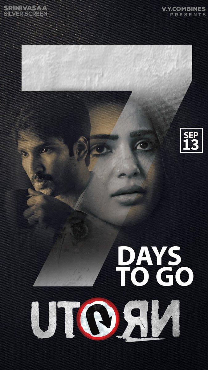Aadhi Samantha UTurn Movie 7 Days to Go Poster