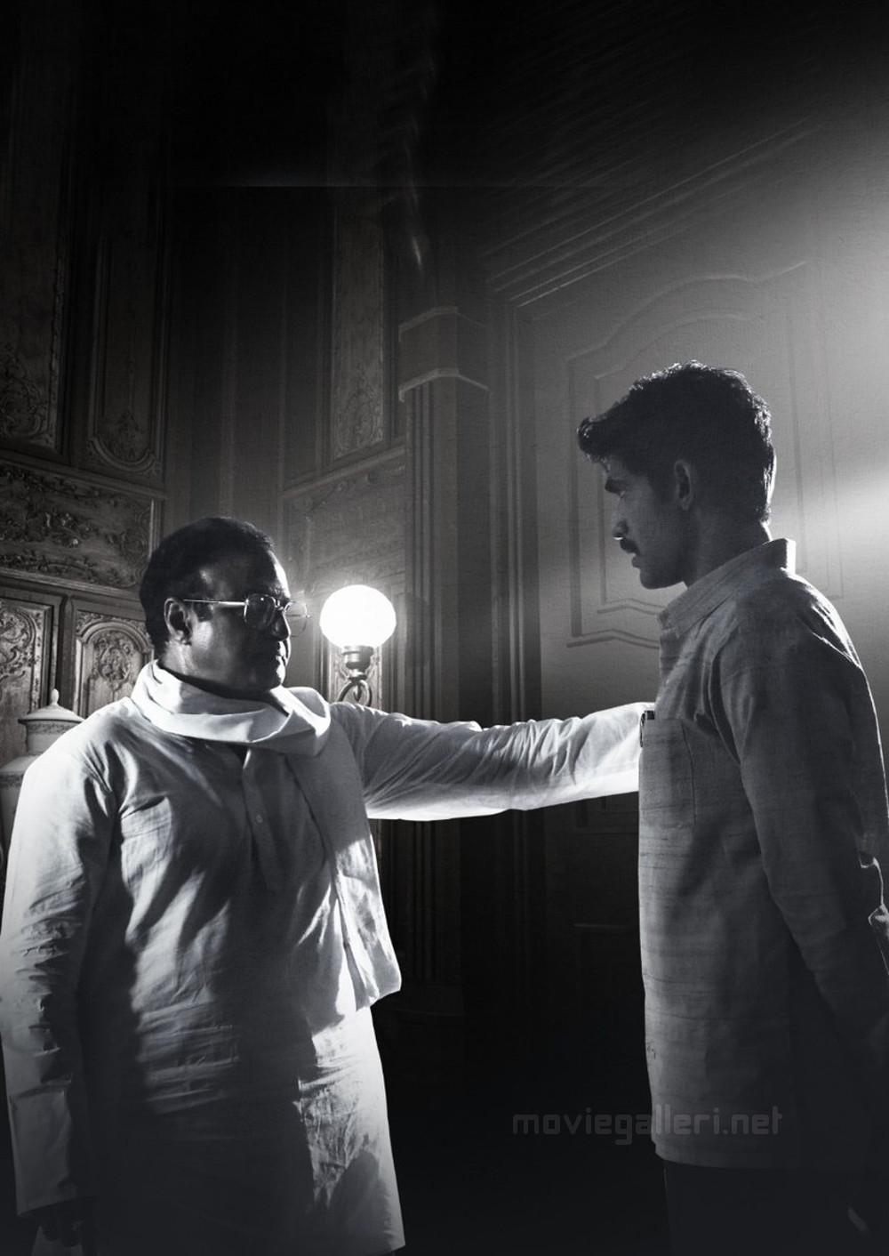 Actor Nandamuri Balakrishna as NTR and Rana Daggubati as Nara Chandrababu Naidu from NTR Biopic Movie