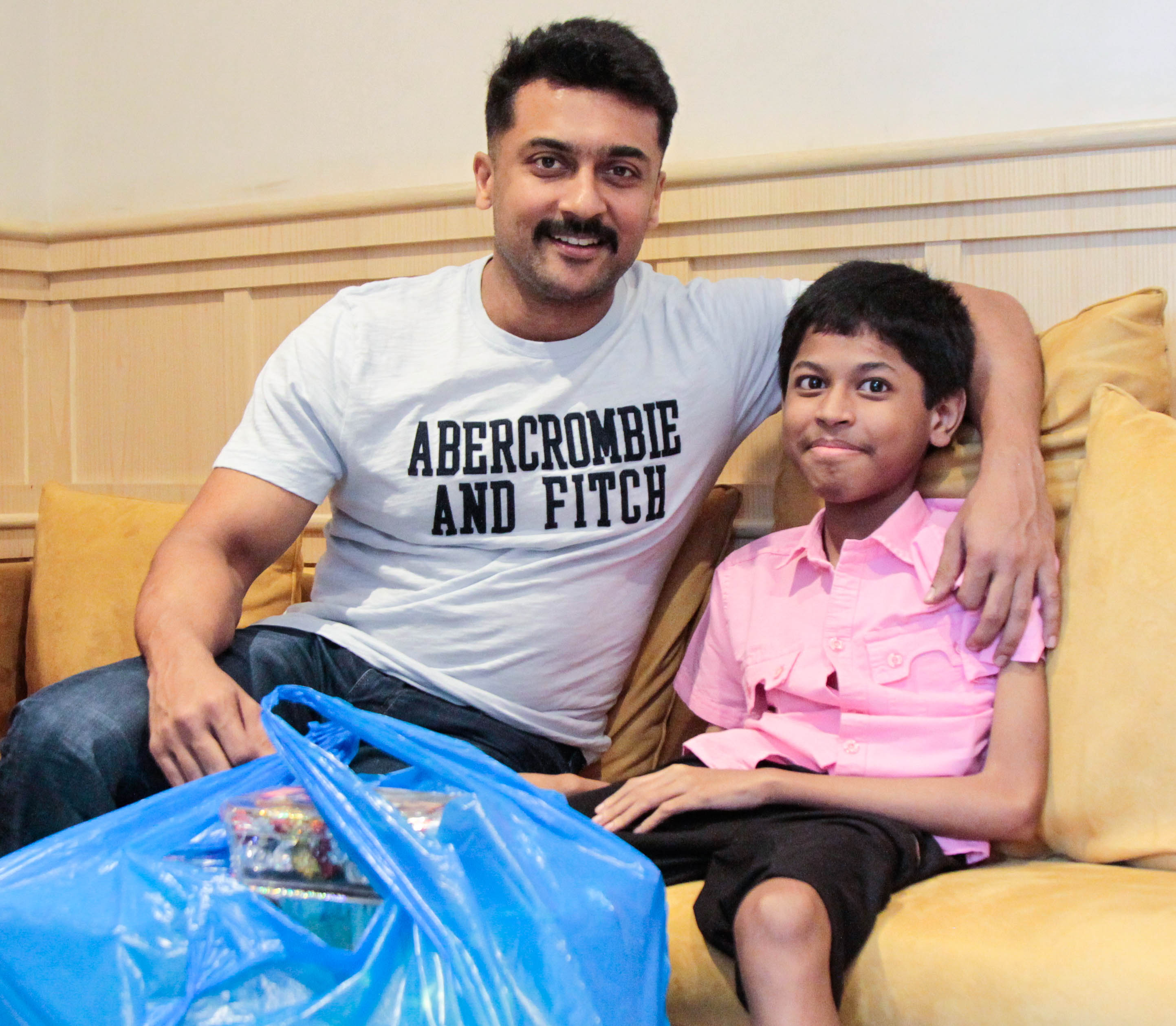 Actor Suriya's inspiring words to young boy Dinesh