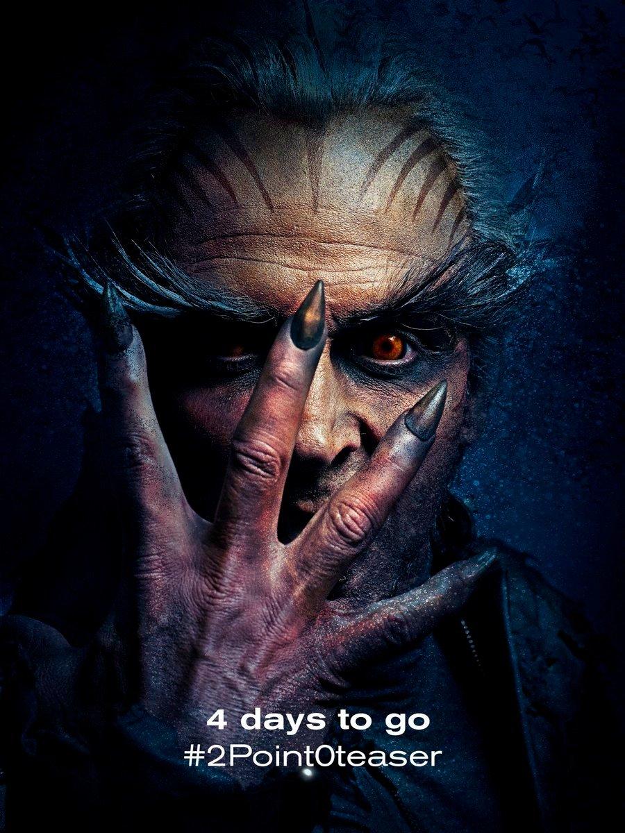 Akshay Kumar 2.0 Teaser 4 Days to Go Poster