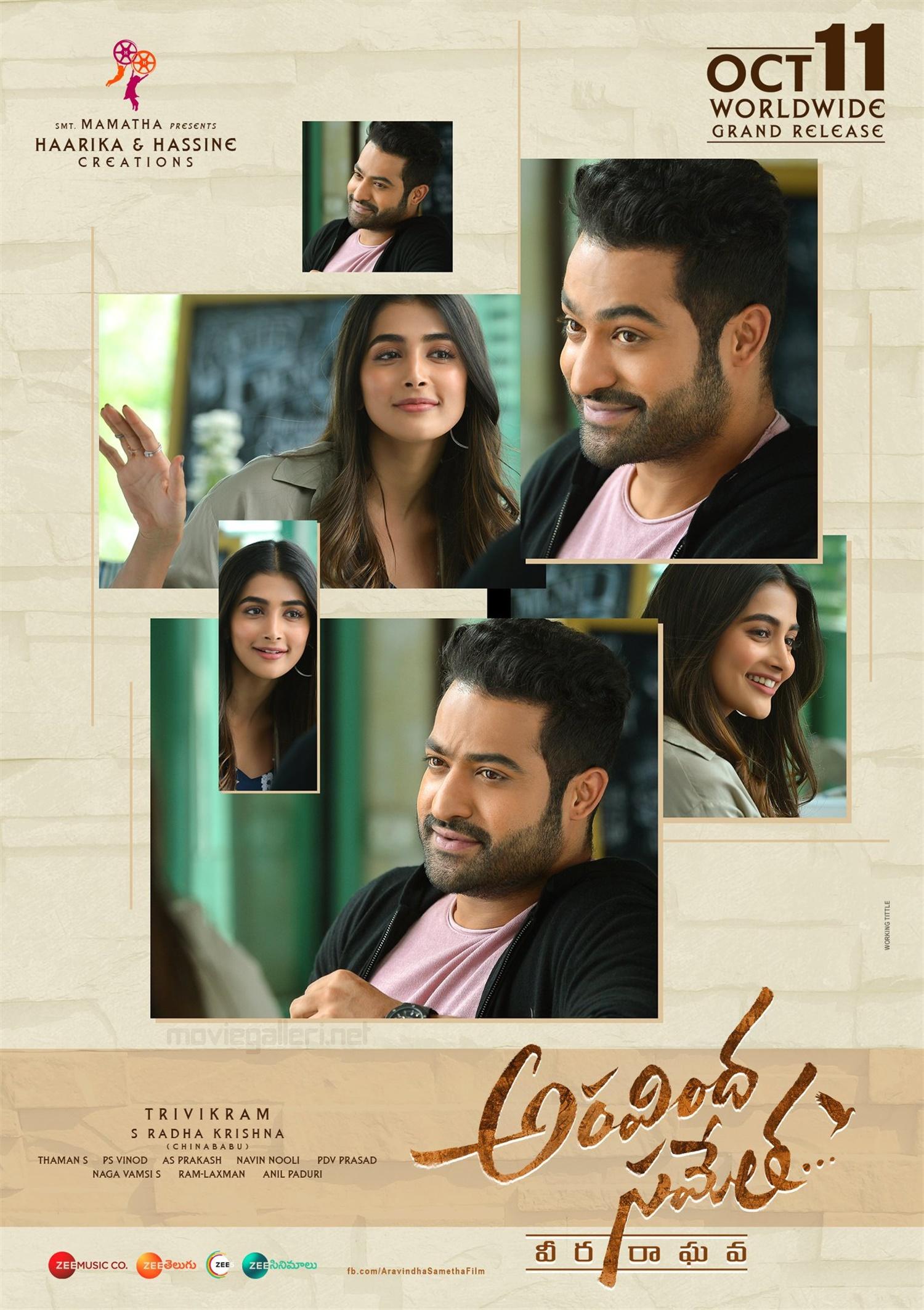 Aravinda Sametha Veera Raghava Movie Release Date Oct 11th Posters HD