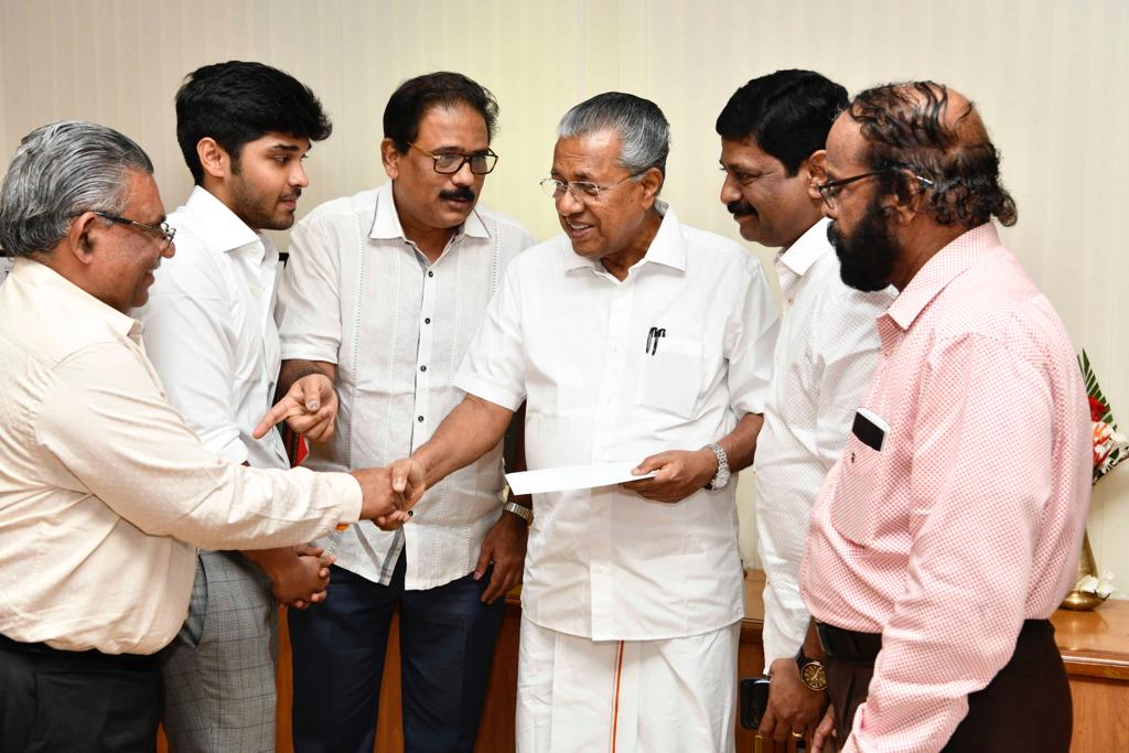 Dhruv Vikram, Mukesh Mehta & A V Anoop Donate Dhruv's Salary Of Varma For Kerala Chief Ministers Relief Fund