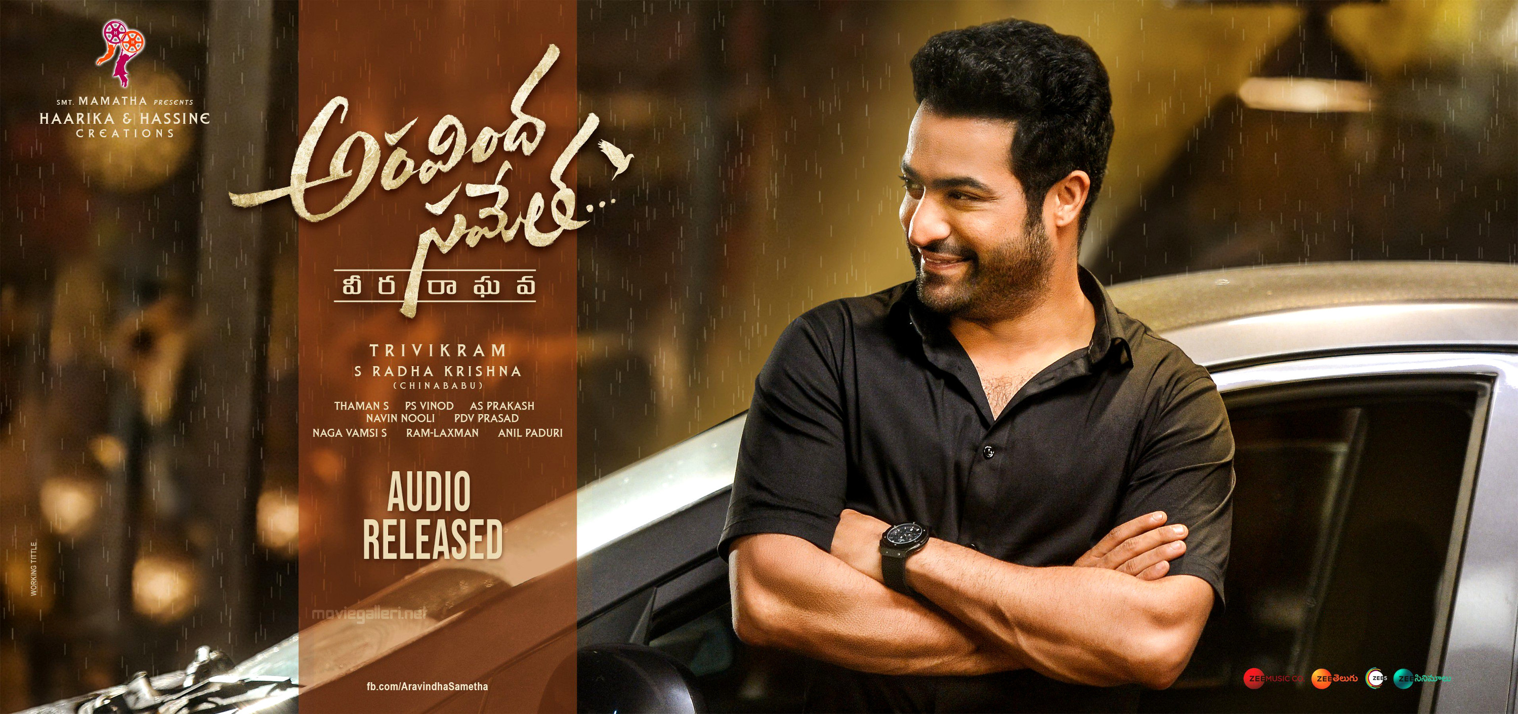 Hero Jr NTR Aravindha Sametha Audio Released Wallpapers HD