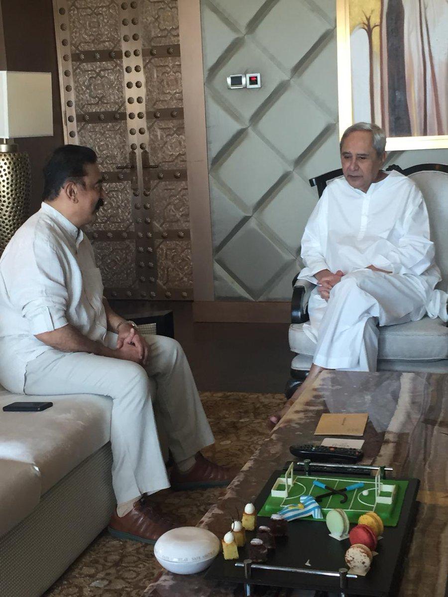 Kamal Haasan meets Odisha CM Naveen Patnaik