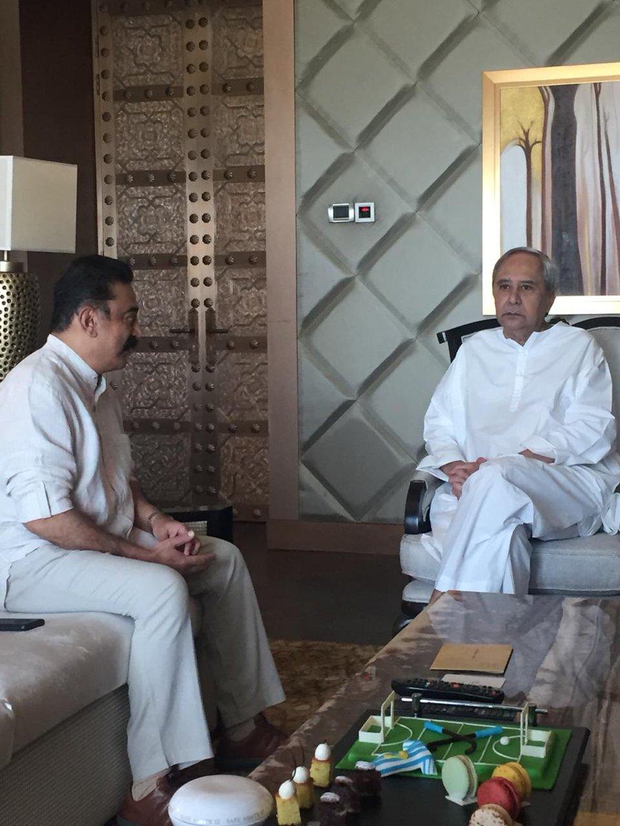 Kamal meets Odisha CM Naveen Patnaik