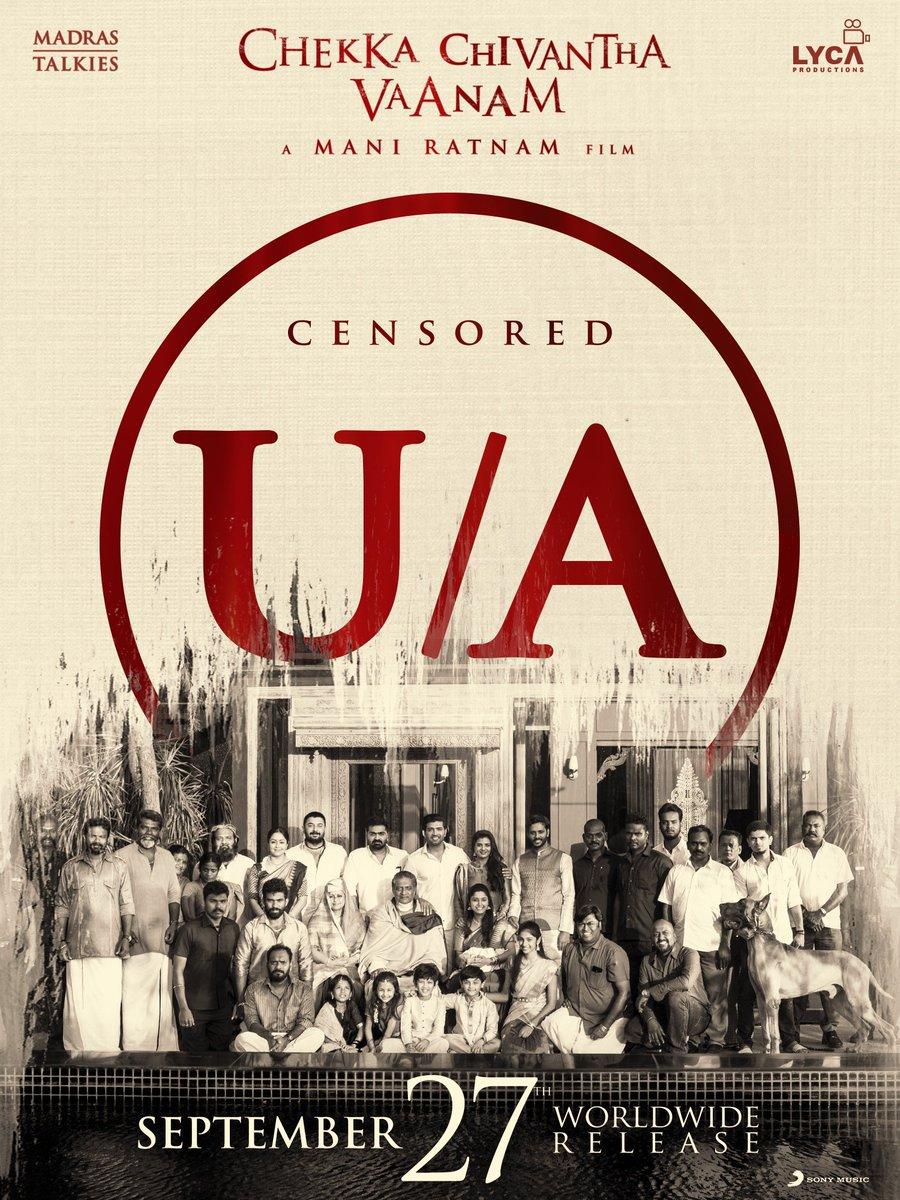 Mani Ratnam's Chekka Chivantha Vaanam gets UA Censor certificate
