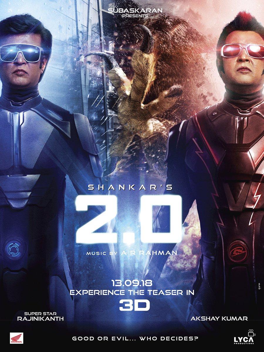 Rajinikanth 2.0 Teaser Release 4 Days to Go Poster