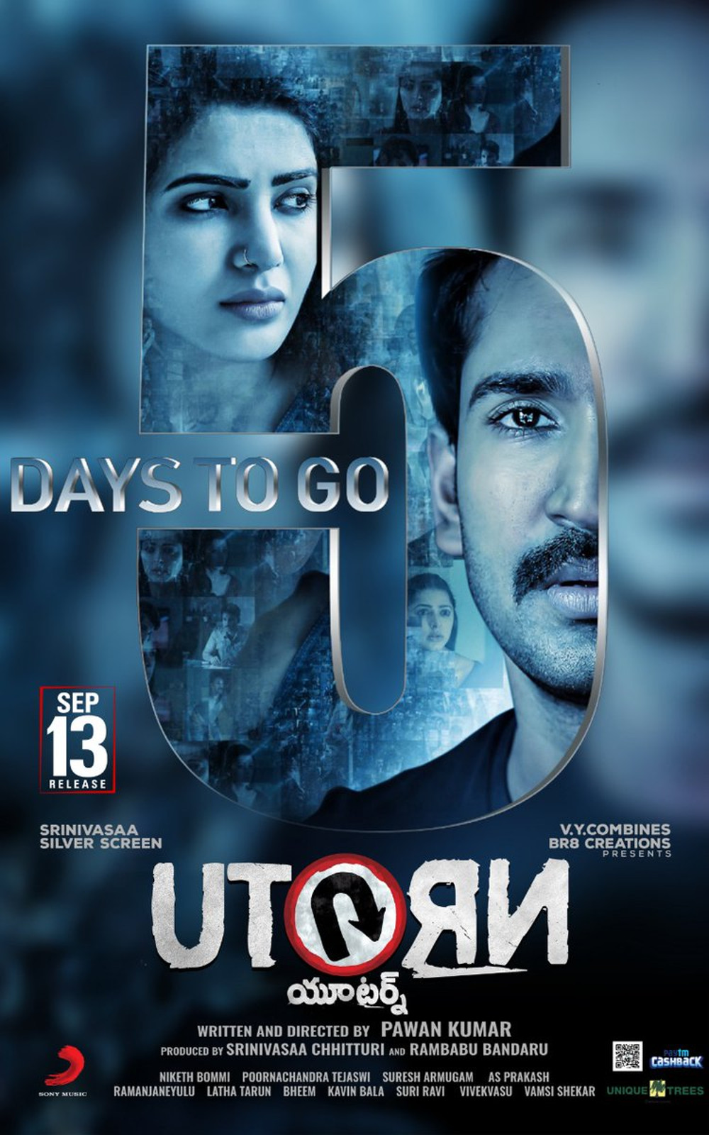 Samantha Aadhi U Turn Movie 5 Days to Go Poster