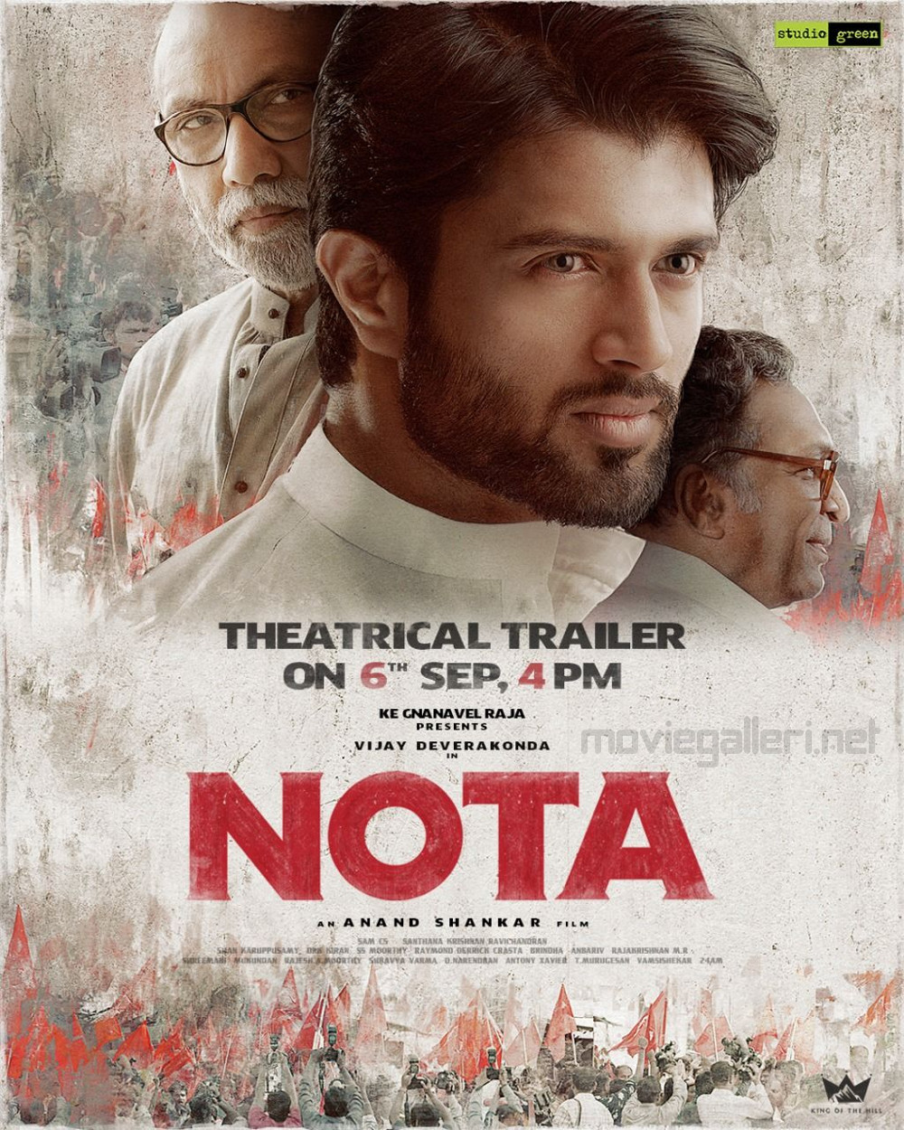 Sathyaraj Vijay Devarakonda Nassar Nota Movie Trailer Release on Sep 6th Poster