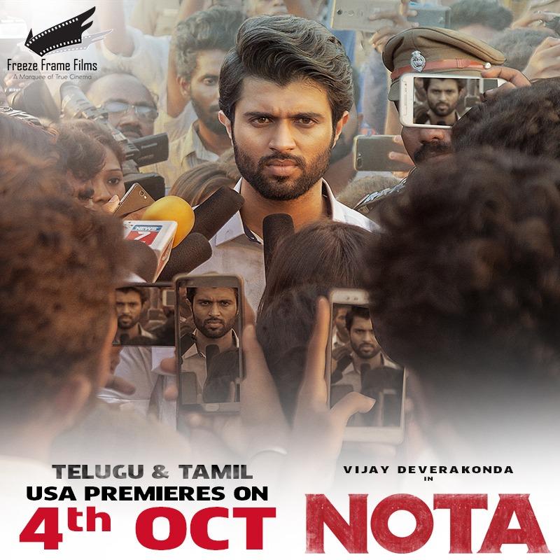 Telugu & Tamil premieres of NOTA on October 4